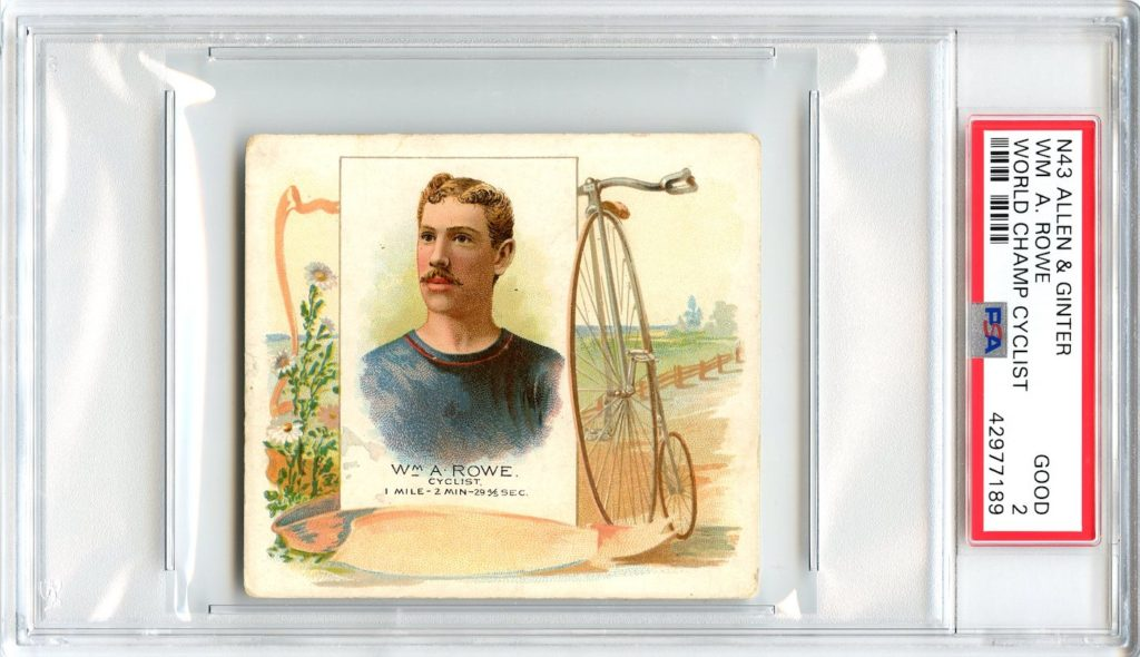 N43 Allen & Ginter The World's Champions 1888 Wm. A. Rowe