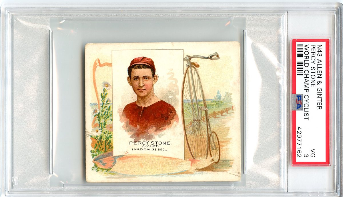 N43 Allen & Ginter The World's Champions 1888 Percy Stone