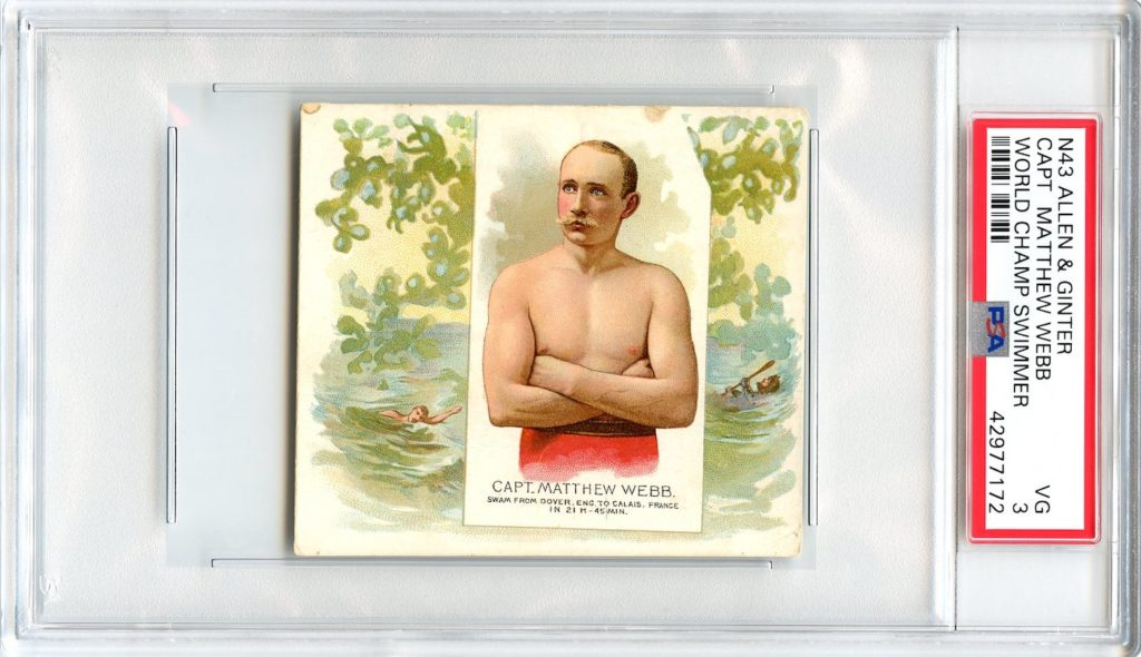 N43 Allen & Ginter The World's Champions 1888 Capt. Matthew Webb