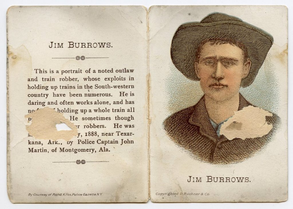 1887 N283 Buchner Defenders & Offenders Jim Burrows