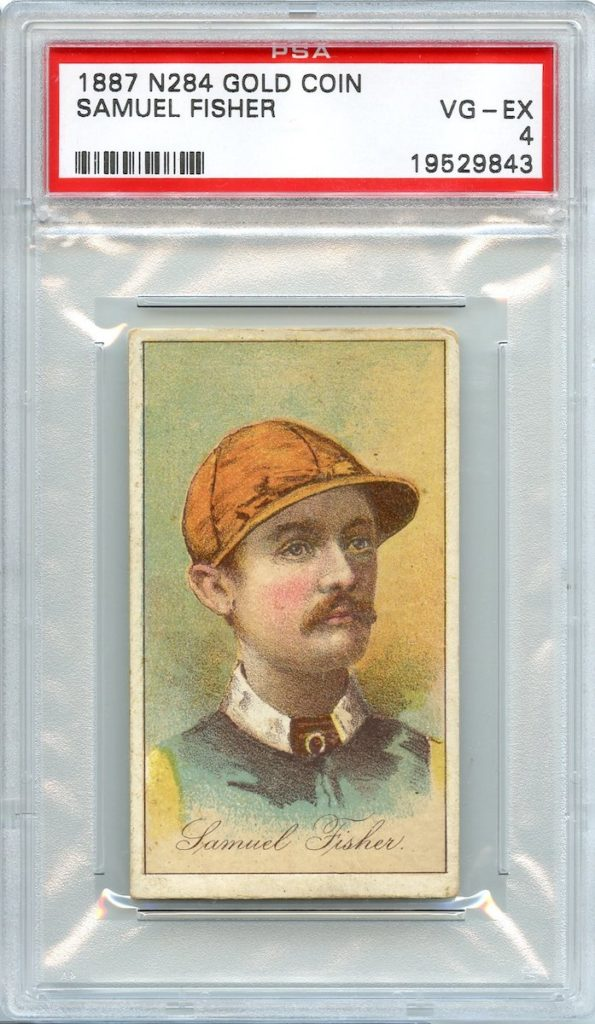 1887 Buchner Gold Coin jockey Samuel Fisher