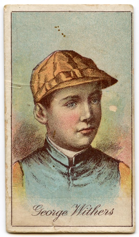 1887 Buchner Gold Coin jockey George Withers