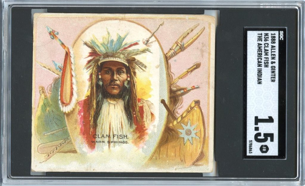 "1888 N36 Allen & Ginter ""American Indians"" Clam Fish"