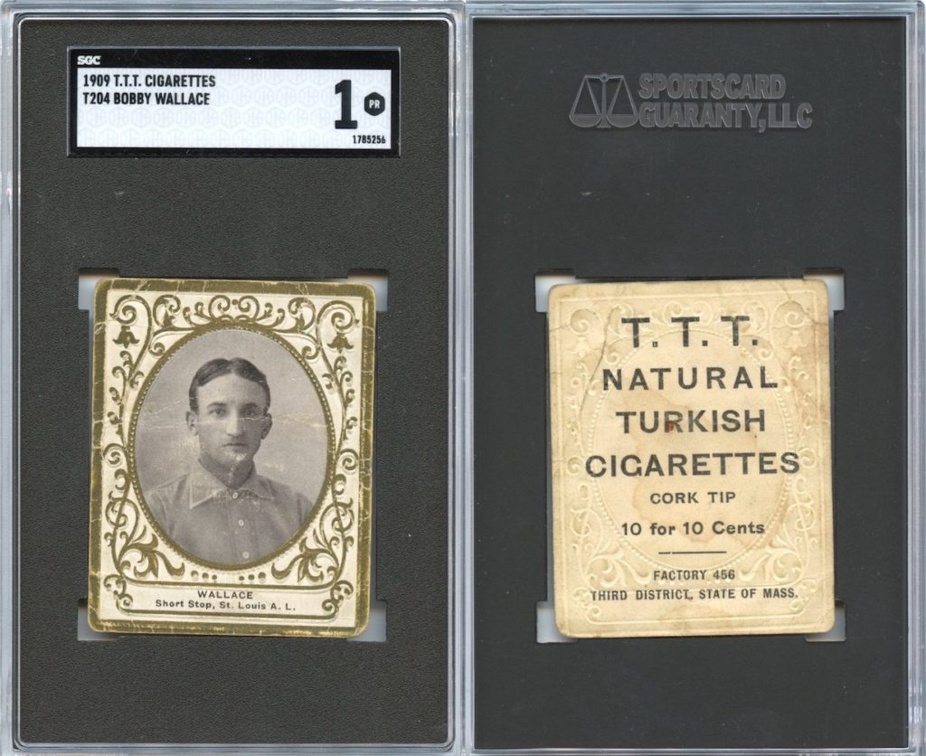 1909 T204 T.T.T. Turkish Cigarettes Bobby Wallace (front and back)